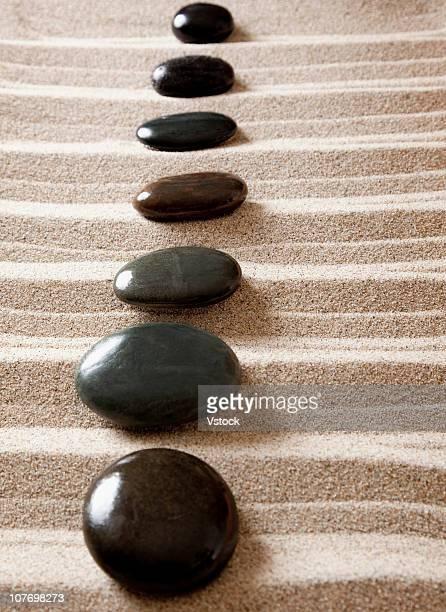 USA, California, Fairfax, Stones in rock garden