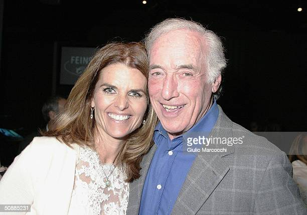 California first lady Maria Shriver and Bud Yorkin attend the Cynthia Sikes Live Performance at the Cinegrill on May 21 2004 in Hollywood California