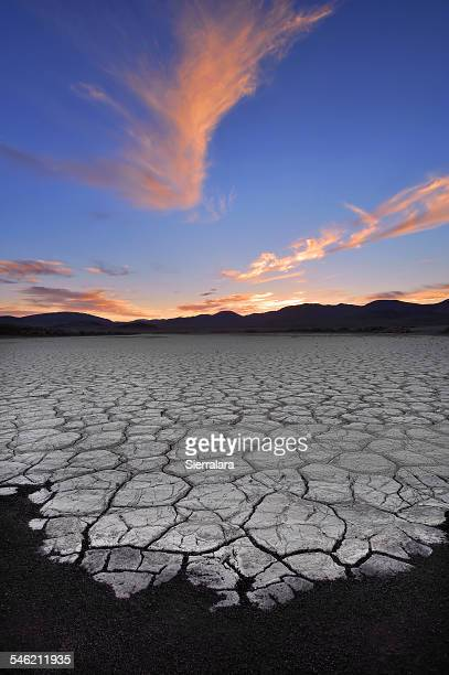 USA, California, Fossil Falls, Sunrise Over Dry lake