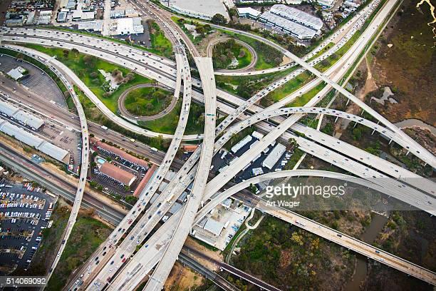 Échange l'autoroute de Californie à San Diego