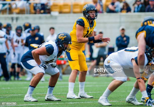 California Golden Bears quarterback Chase Forrest during the California Golden Bears Spring Game at Kabam field in BerkeleyCalifornia on April 222017