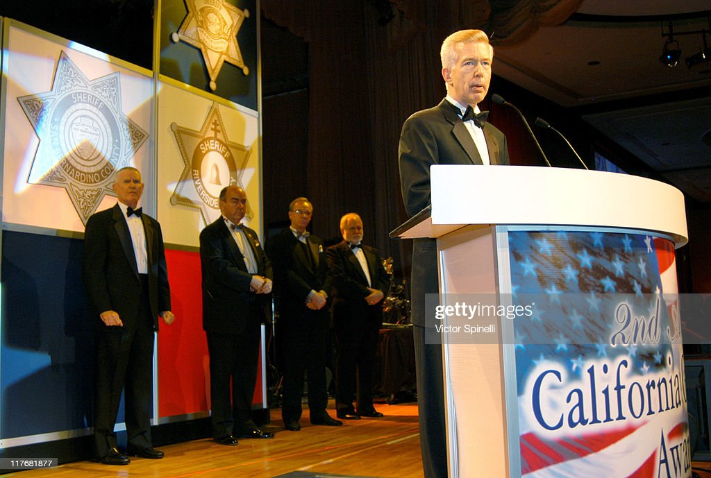 California Governor <a gi-track='captionPersonalityLinkClicked' href=/galleries/search?phrase=Gray+Davis&family=editorial&specificpeople=200688 ng-click='$event.stopPropagation()'>Gray Davis</a> during 2nd Annual California Gold Star Awards - Dedicated to Homeland Security at Disneyland Hotel in Anaheim, California, United States.