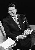 California governor Ronald Reagan speaks during an interview circa 1972