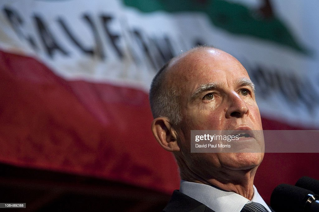 Jerry Brown Holds News Conference Day After Election