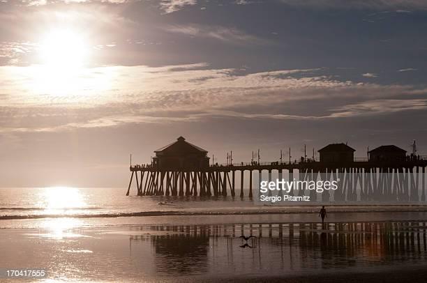 USA, California, Huntington Beach Pier