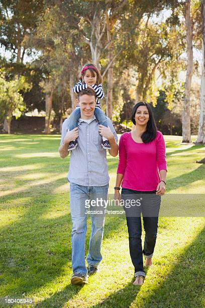 USA, California, Irvine, Portrait of happy family in park