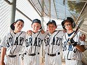 USA, California, Ladera Ranch, boys (10-11) from  little league baseball team