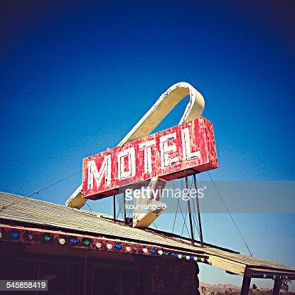 USA, California, Lake Los Angeles, Motel Sign
