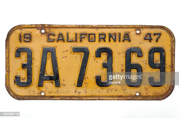 Placa de 1947 licença da Califórnia