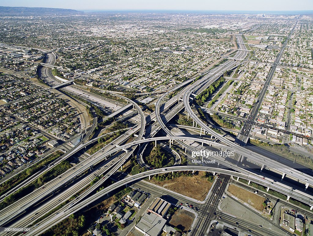 Usa California Los Angeles Aerial View Of And Freeways - Area code 405 usa