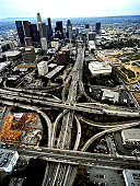 110 and 101 Freeway Interchange