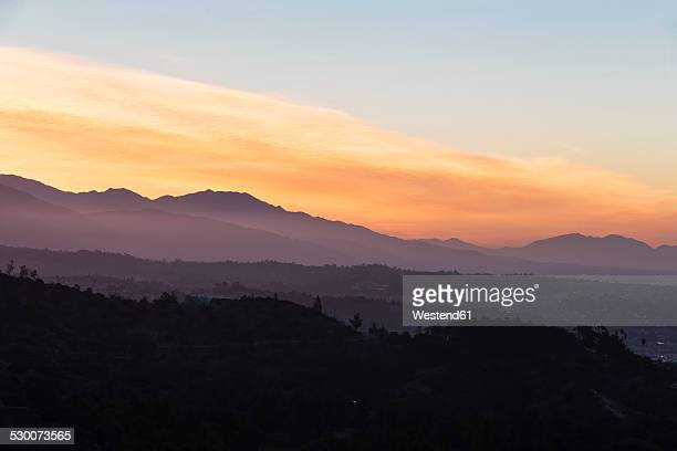 USA, California, Los Angeles, Hollywood Hills in the morning
