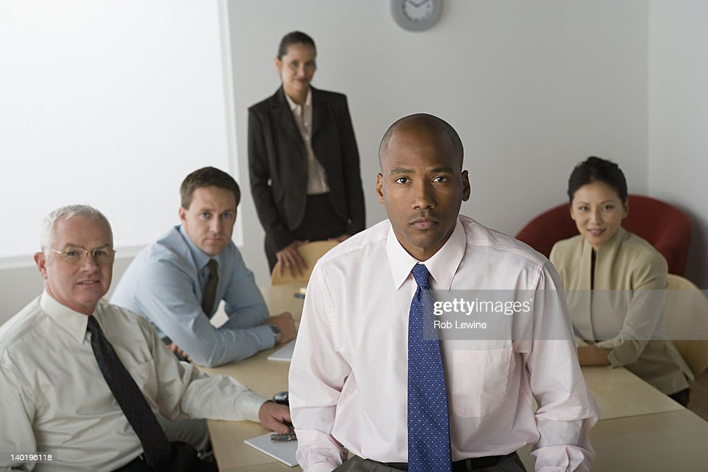 USA, California, Los Angeles, Portrait of business people in office : Stock Photo