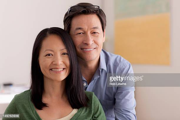 USA, California, Los Angeles, Portrait of couple smiling