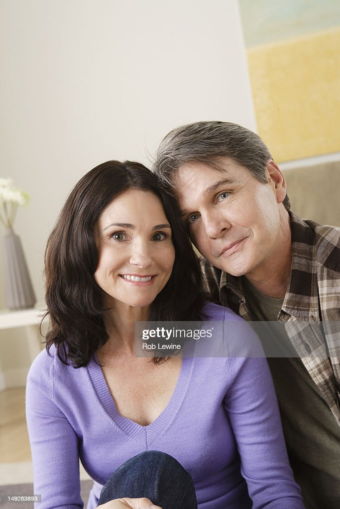 USA, California, Los Angeles, Portrait of mature couple at home : Stock Photo