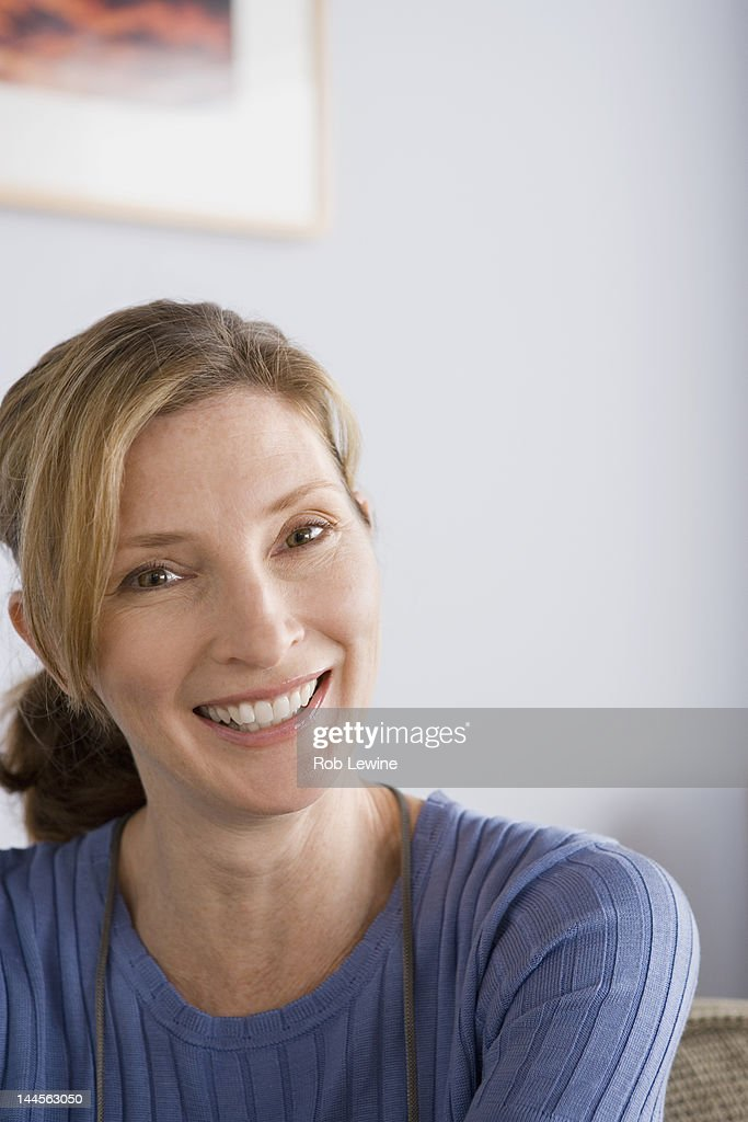 USA, California, Los Angeles, Portrait of mature woman : Stock Photo