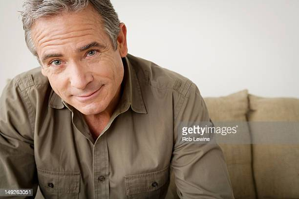 USA, California, Los Angeles, Portrait of smiling mature man