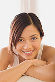 USA, California, Los Angeles, Portrait of woman smiling
