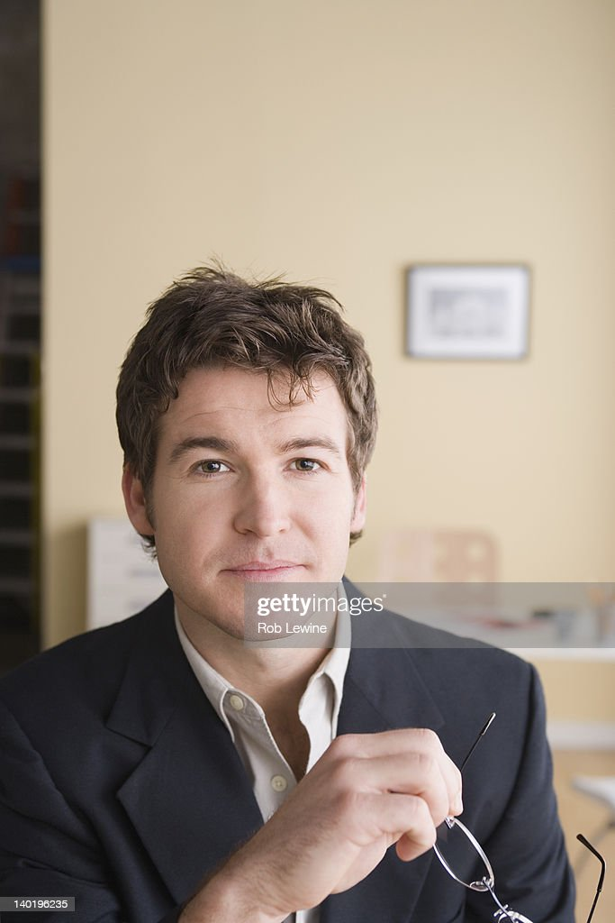 USA, California, Los Angeles, Portrait of young businessman : Stock Photo