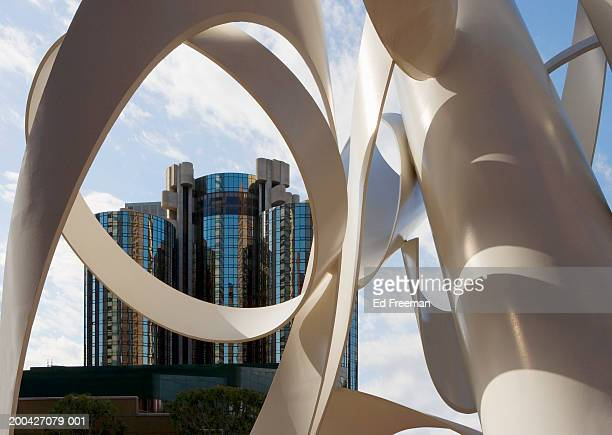 USA, California, Los Angeles, sculpture and building, close-up