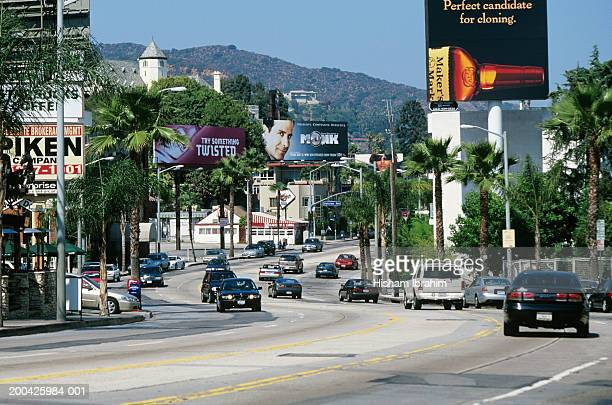 USA, California, Los Angeles, Sunset Boulevard, Sunset Strip traffic