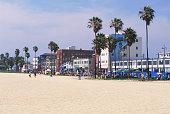 USA, California, Los Angeles, Venice Beach boardwalk
