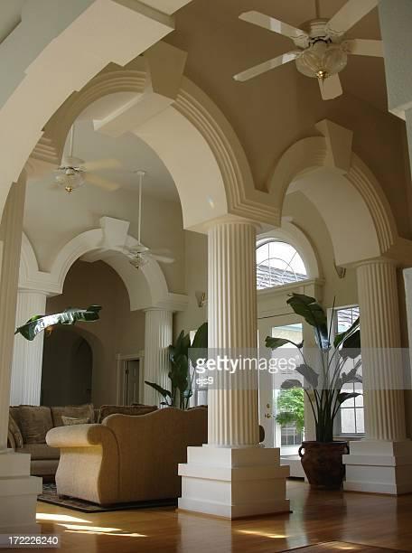 Califórnia Mansão Imponente sala de estar e a entrada