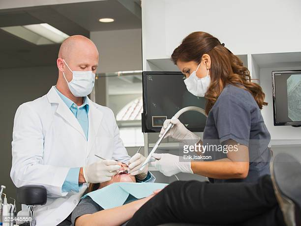 USA, California, Mission Viejo, Dentist operation on patient