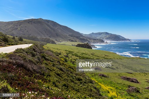USA, California, Pacific Coast, National Scenic Byway, Big Sur, California State Route 1, Highway 1