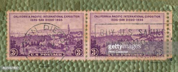 California Pacific International Exposition US Postage Stamp' c1935 Commemorating an exposition held in San Diego California in 1935 1936 The...
