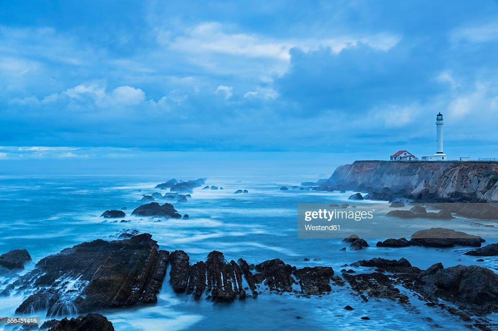 USA, California, Pacific Ocean, Mendocino County, Point Arena Lighthouse