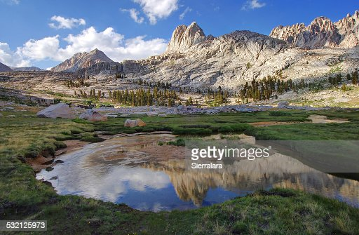 USA, California, Reflections in Miter Basin