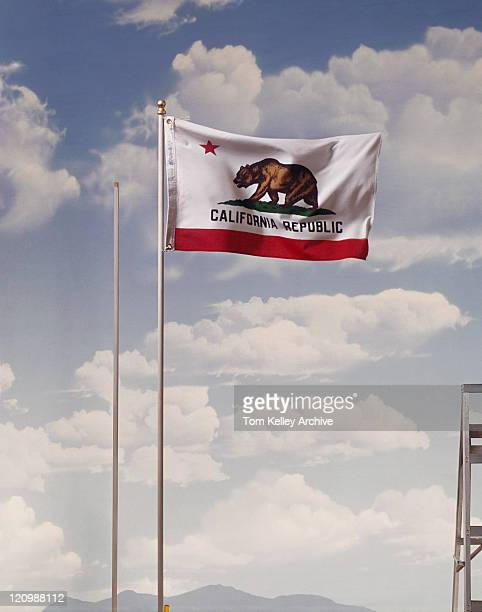 California republic flag against cloudy sky