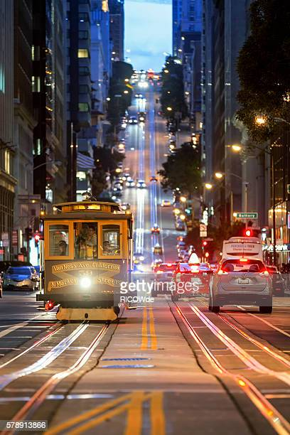 USA, California, San Francisco, Cable Car on California Street