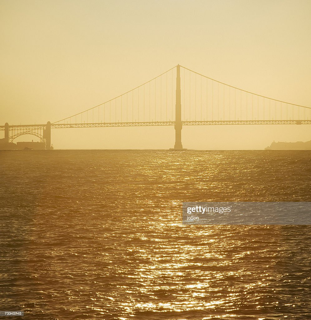 Golden Gate Bridge San Francisco California Sunset Picture: Usa California San Francisco Golden Gate Bridge At Sunset