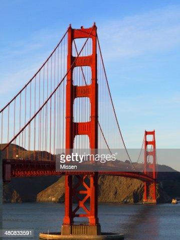 米国カリフォルニア州、サンフランシスコのゴールデンゲートブリッジ