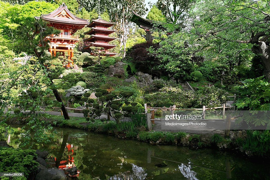 USA, California, San Francisco, Golden Gate Park, Japanese Tea Garden, Buddhist Temple