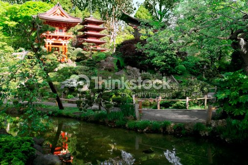 Usa California San Francisco Golden Gate Park Japanese Tea Garden ...