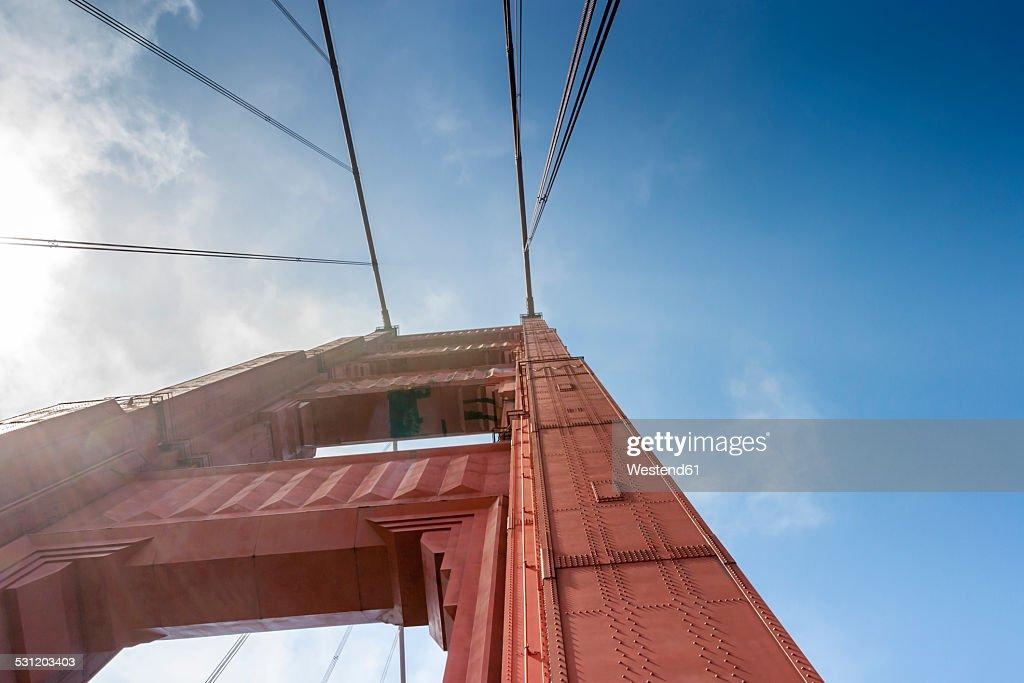 USA, California, San Francisco, pillar of the Golden Gate Bridge