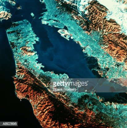 USA, California, San Francisco, seen from space