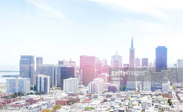 USA, California, San Francisco, Skyline. Aerial view. City of the future.