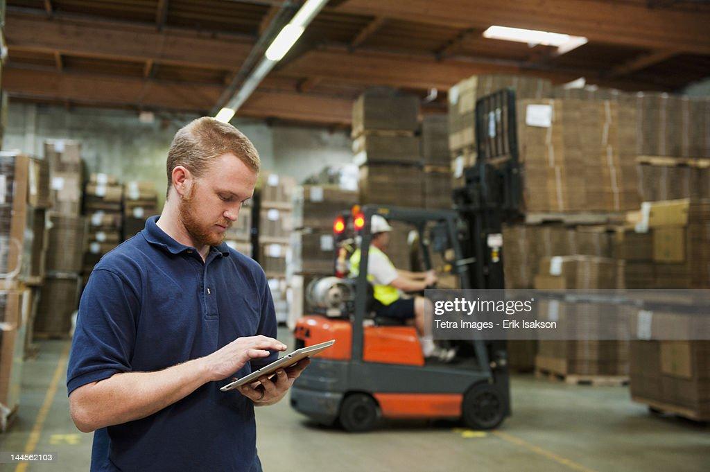 USA, California, Santa Ana, Warehouse worker