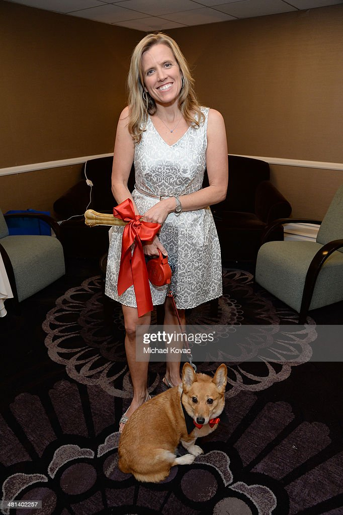 California Senior State Director The Humane Society Jennifer Fearing and Sutter the First dog of California attend the Humane Society of The United...