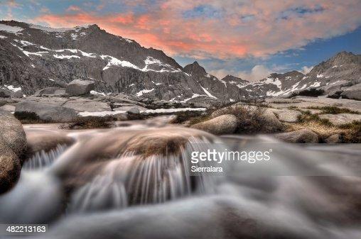 USA, California, Sequoia National Park, Mount Stewart and Big Arroyo Creek