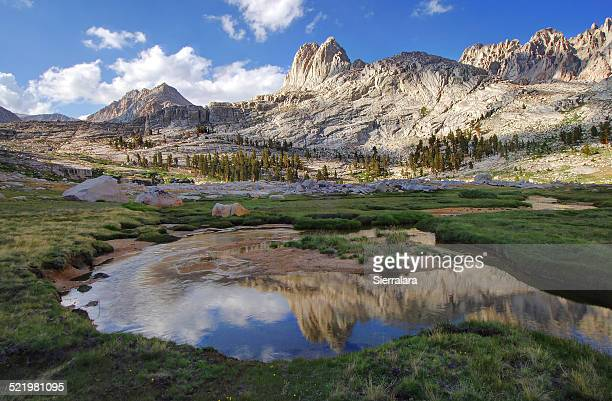 USA, California, Sequoia National Park, Reflections in Miter Basin