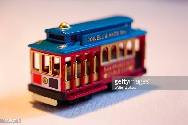 USA, California, S.F., mini cable car