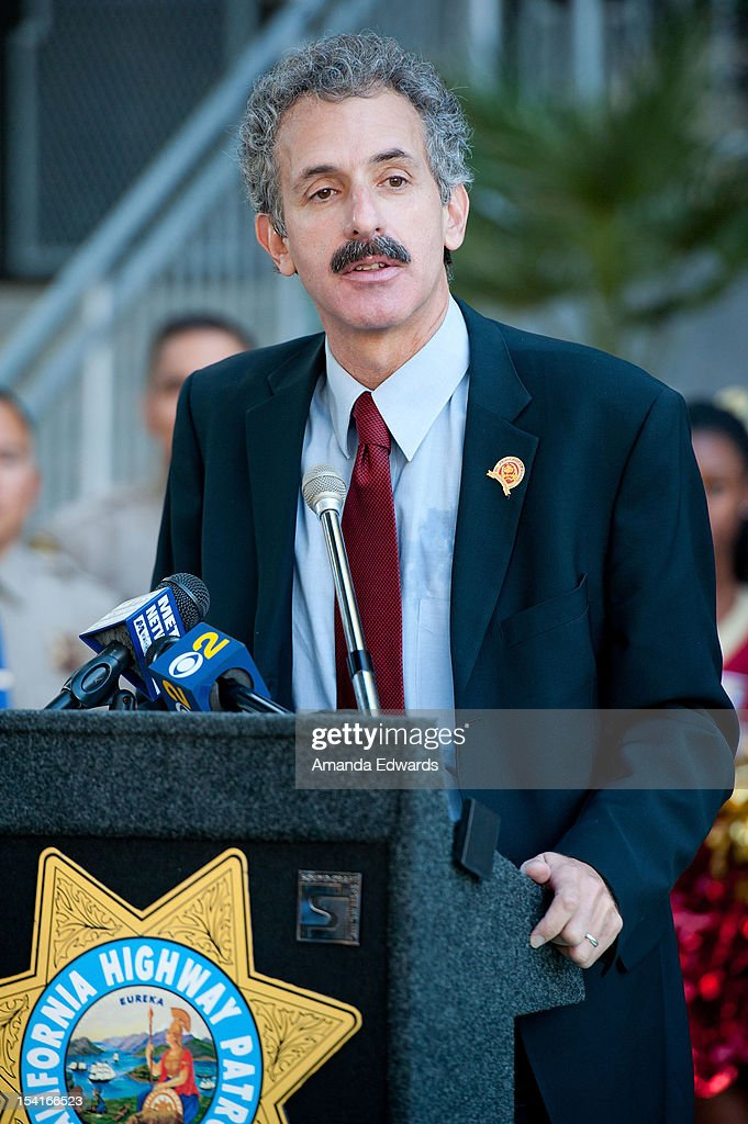 California State Assemblymember Mike Feuer attends the Mercedes-Benz Driving Academy Kicks-Off National Teen Driver Safety Week With Actress Hailee Steinfeld at Fairfax High School on October 15, 2012 in Los Angeles, California.