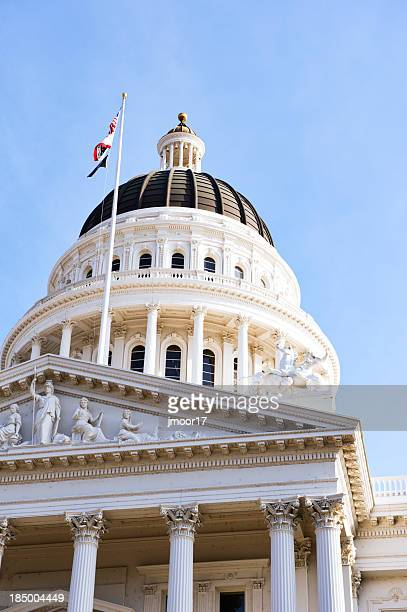 California State Capitol view from below