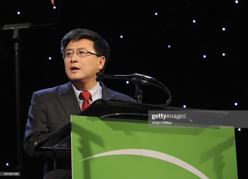California State Controller John Chiang presents the Founders Award during Liberty Hill's Upton Sinclair Awards Dinner Honors - Show at The Beverly Hilton Hotel on April 23, 2013 in Beverly Hills, California.