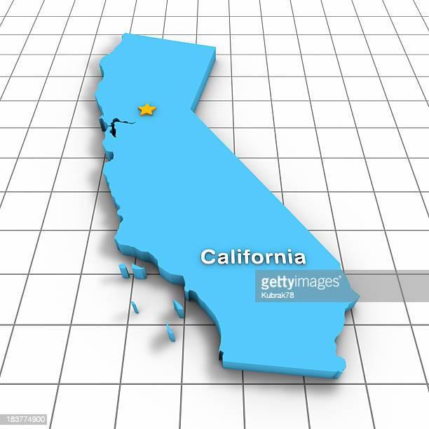 California State Map 3D